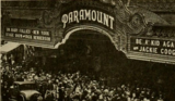 Marquee of the recentlly acquired and renamed Paramount Theatre, Los Angeles in 1930