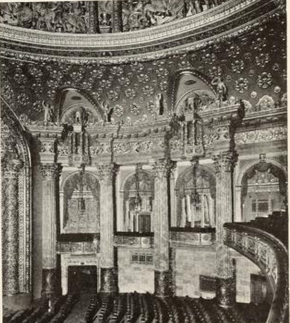 Side wall of the Sheridan Theatre, Chicago, IL in 1928