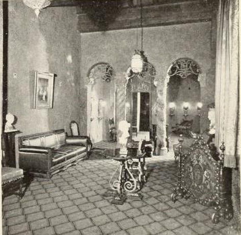Ladies Room and through to Cosmetics Room of the Indiana Theatre, Indianapolis, IN in 1928