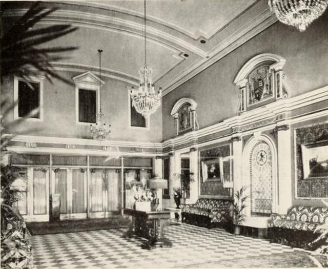 Foyer of the Roosevelt Theatre, Philadelphia, PA in 1928