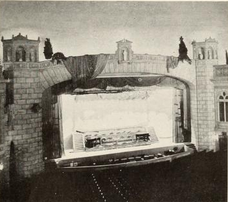 Proscenium arch of the Stanley Theatre, Jersey City, NJ in 1928