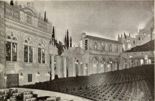 Auditorium sidewall of the Stanley Theatre, Jersey City, NJ in 1928
