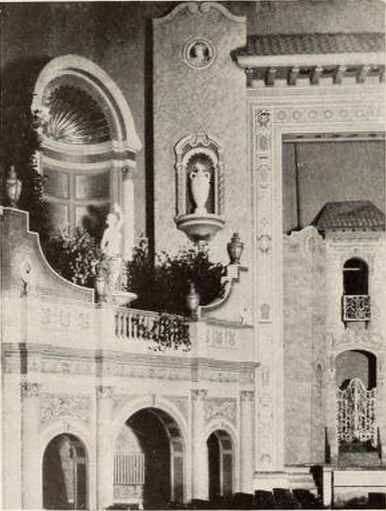 Detail of side wall of Granada Theatre, Cleveland, OH in 1928