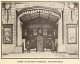 Exterior Lobby of Regent Theatre, Philadelphia, PA in 1914