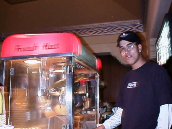 Lewis and the popcorn machine