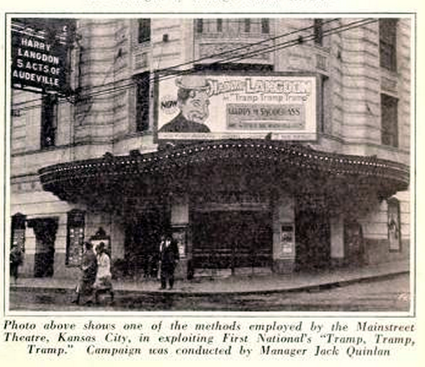 Marquee of the Mainstreet Theatre, Kansas City, MO in 1926