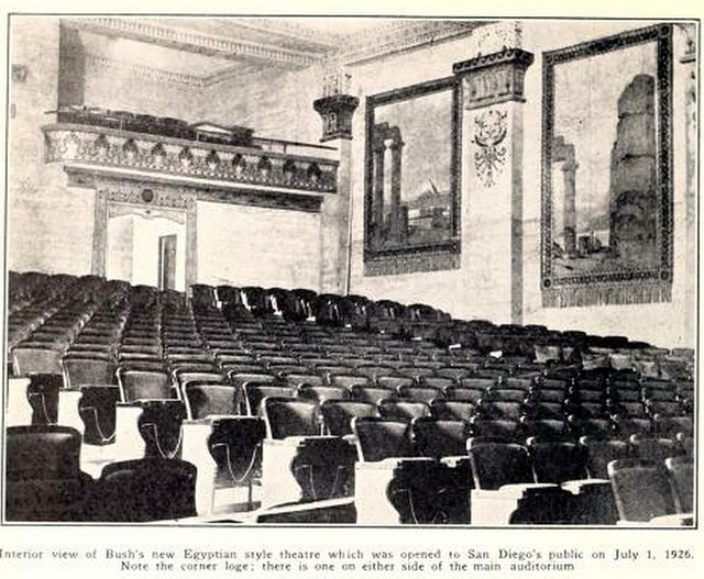 Auditorium of the Egyptian Theatre, San Diego, CA in 1926