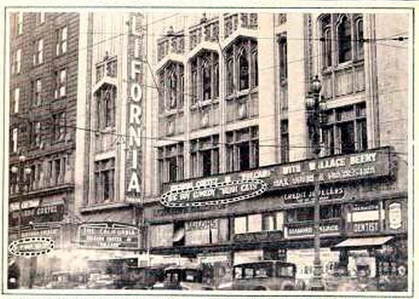 California Theatre, San Francisco, CA in 1926