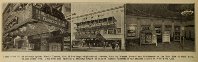 Mecca Theatre, on New York's East Side in 1926