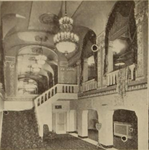 Capitol Theatre, Portchester, NY in 1926 - Stairway to inner foyer