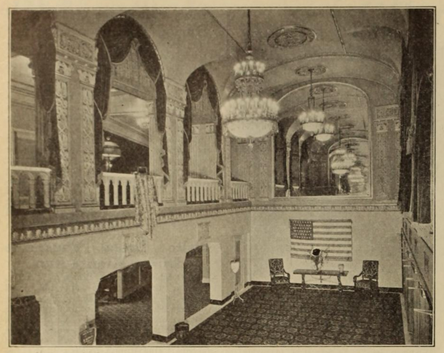 Capitol Theatre, Portchester, NY in 1926 - View of the Foyer