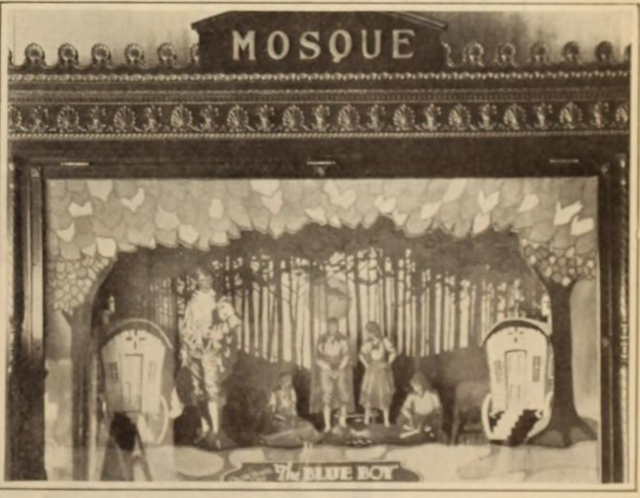 Mosque Theatre, Newark, NJ in 1926 - Shadow box display exhibited in a wall case in the main lobby