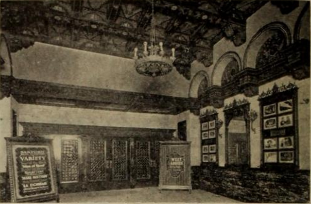 Sanford Theatre, Irvington, NJ in 1926 - Lobby