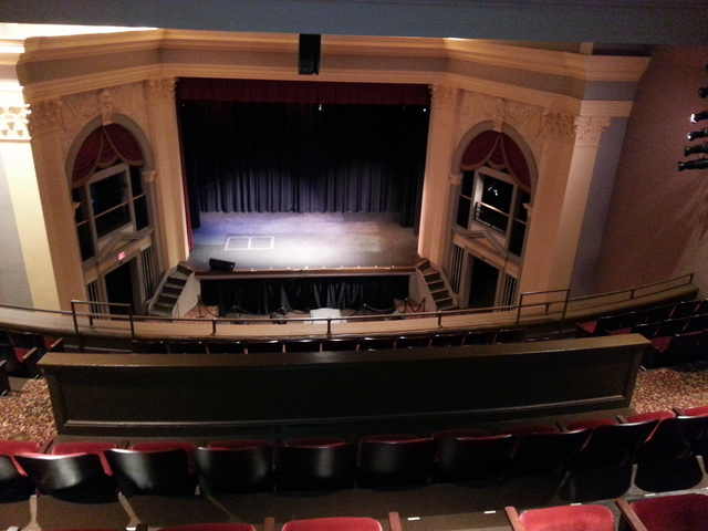 Turnage Theater view of stage from balcony