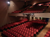 side view of theater seating