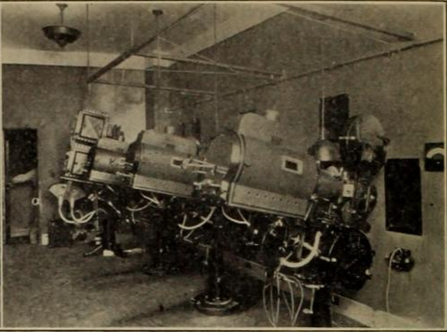 Projection Room of the 5th Avenue Theatre, Seattle, WA in 1926
