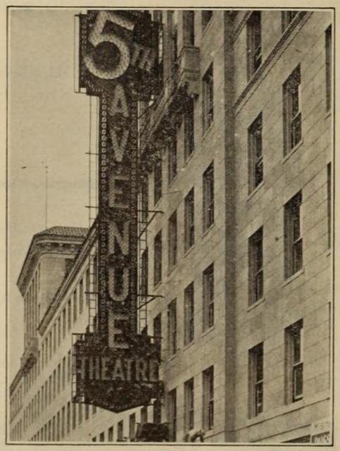 5th Avenue Theatre, Seattle, WA in 1926 - Electric sign