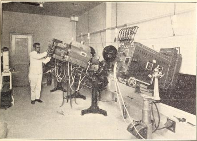 Capitol Theatre, Portchester, NY in 1926 - Projection Room