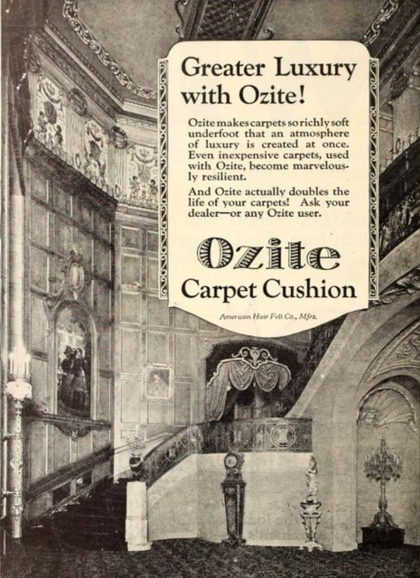 Uptown Theatre, Chicago, IL in 1926 in an advert for Ozite Carpets