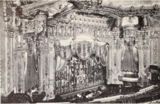 Oriental Theatre, Chicago, IL in 1926 - Proscenium and organ niche seen from the Balcony