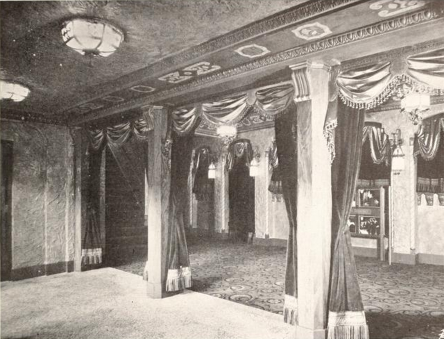 Babcock Theatre, Billings, MT in 1928 - View of the Foyer from entrance