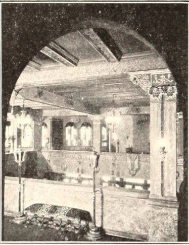 Universal Theatre, Brooklyn in 1927 - View of Balcony overlooking the Lobby