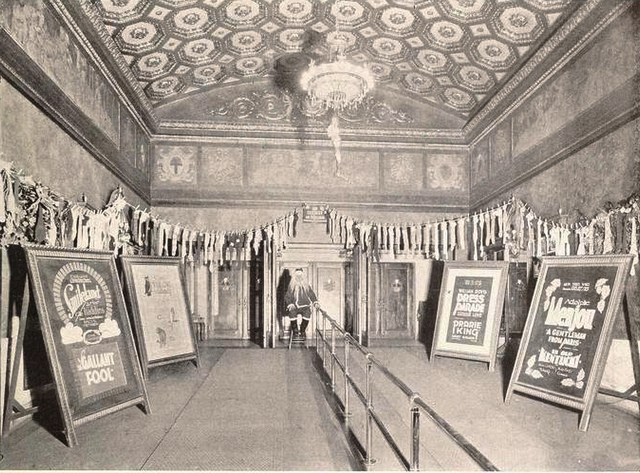 Lobby of the Embassy Theatre, Orange, NJ in 1927