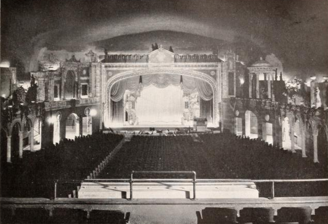 Fortway Theatre, Brooklyn, NY in 1927 - Proscenium arch and Auditorium