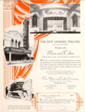 1928 Advert featuring the Genesee Theatre, Buffalo, NY