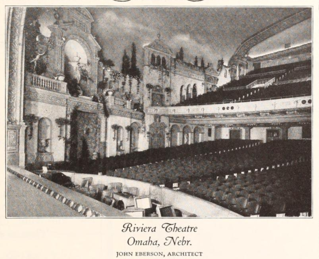 Riviera Theatre, Omaha, NE in 1927