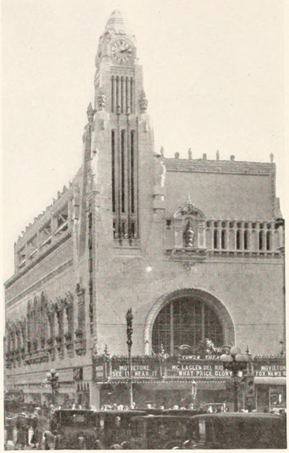 Tower Theatre, Los Angeles, CA in 1927