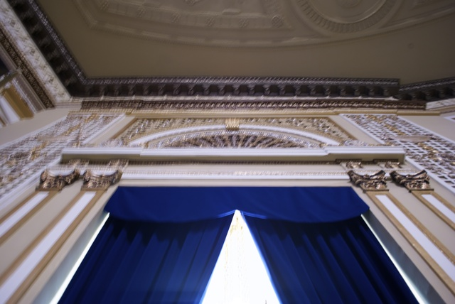 Looking up at the Balcony
