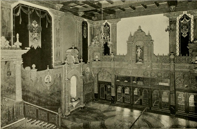 Louisville Theatre, Louisville, KY in 1928 - View to outer Lobby from the Mezzanine