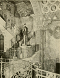 Louisville Theatre, Louisville, KY in 1928 - Stair detail on upper mezzanine floor