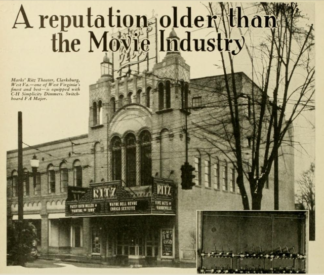 Ritz Theatre, Clarksburg, WV in 1928