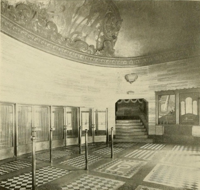 Fox Theatre, Brooklyn, NY in 1928 - Outer lobby