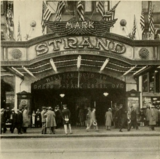 Marquee of the Strand Theatre, New York, NY in 1928