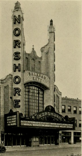Norshore Theatre, Chicago, IL in 1928