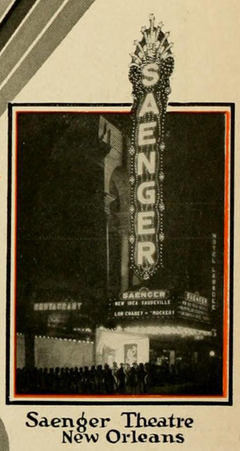 Saenger Theatre, New Orleans, LA in 1928