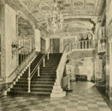 Portland Theatre, Portland, OR in 1928 - Stairway to mezzanine