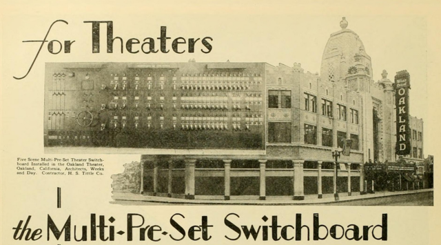 Oakland Theatre, Oakland, CA in 1928
