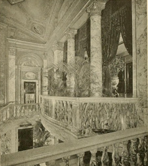 Earle Theatre, Philadelphia, PA in 1928 - Lobby detail