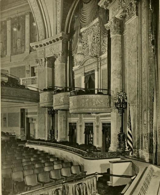 Earle Theatre, Philadelphia, PA in 1928 - Proscenium & side arches