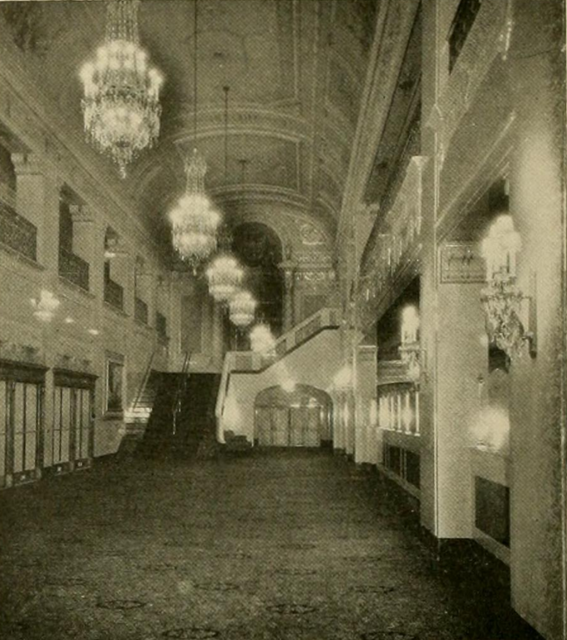 Stanley Theatre, Pittsburgh, PA in 1928 - Foyer