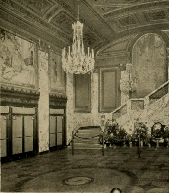 Stanley Theatre, Baltimore, MD in 1928 - Foyer