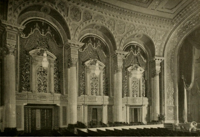 Stanley Theatre, Baltimore, MD in 1928 - Auditorium sidewall