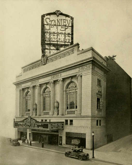Stanley Theatre, Baltimore, MD in 1928 - Facade & main entrance
