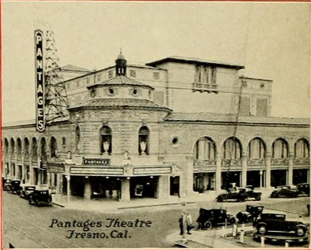 Pantages Theatre, Fresno, CA in 1928