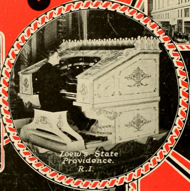 Loew's State Theatre, Providence, RI in 1928 - The Robert Morton organ being played