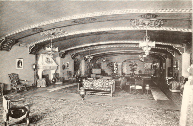 Mastbaum Theatre, Philadelphia, PA in 1929 - Section of Lounge